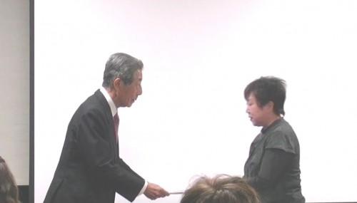 今回は吉田理事長より修了証の授与させていたしました!